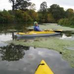 Leah Kayaking the Creek
